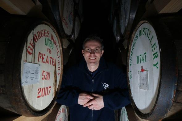 David Frit, the distiller at The English Whisky Company © Colin Hampden-White