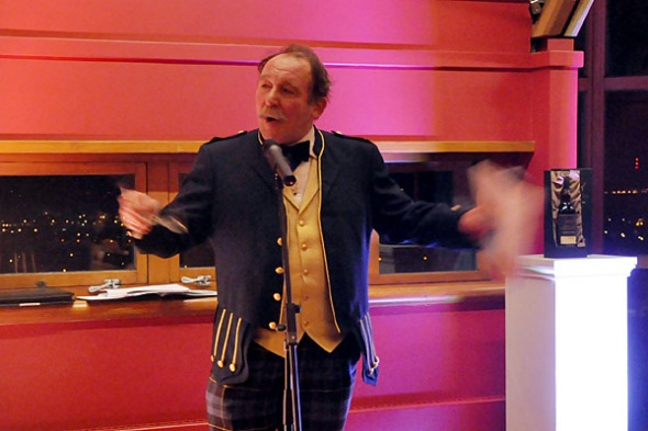 Charlie Maclean in full flow at Edinburgh Castle's Jacobite room © Colin Hampden-White