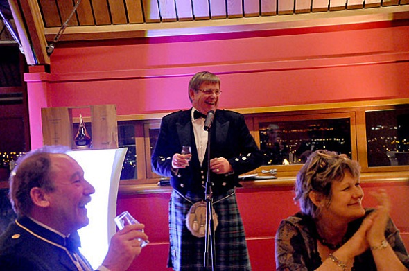 David Urquart speaking about the Gordon & MacPhail Private Collection © Colin Hampden-White