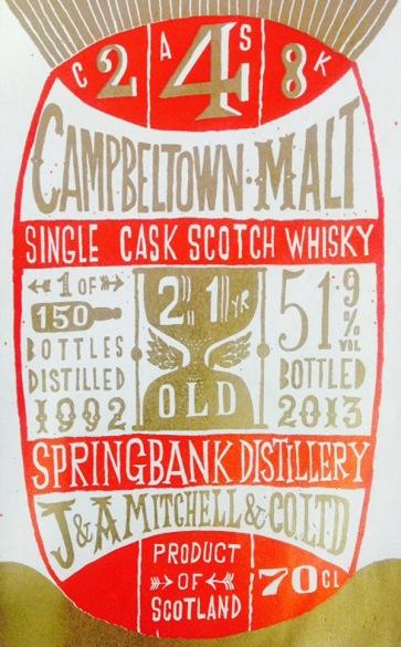 Springbank 21 yr old single cask