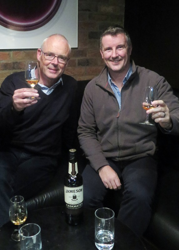 Dave Quinn and Shane Long in London extolling the virtues of Caskmates ©Colin Hampden-White